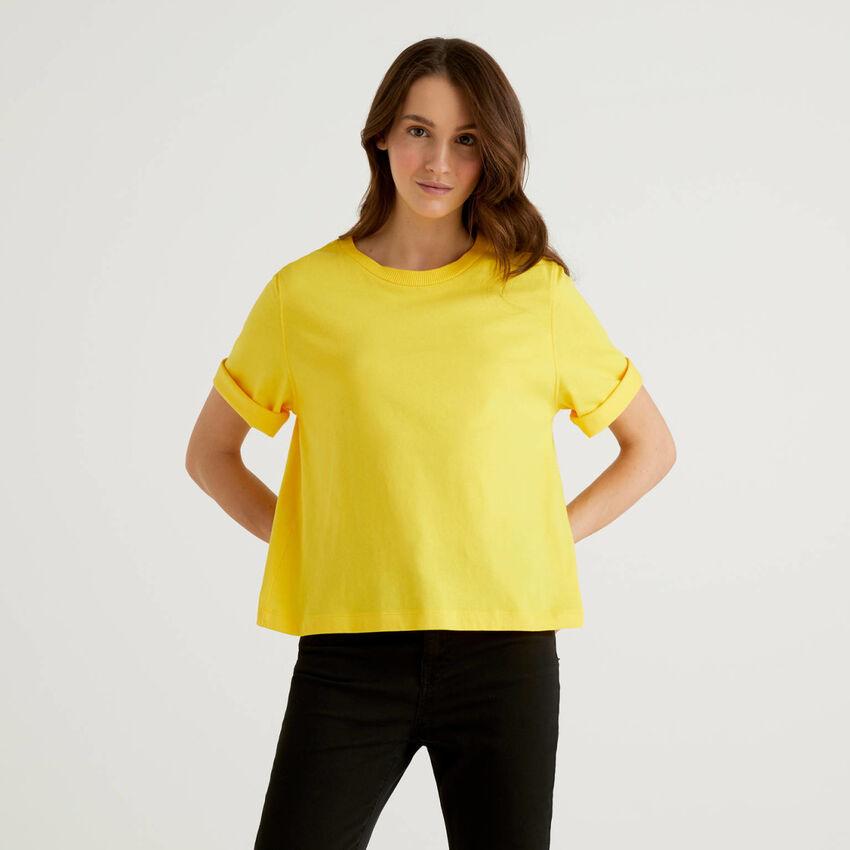T-shirt boxy fit από 100% βαμβακερό