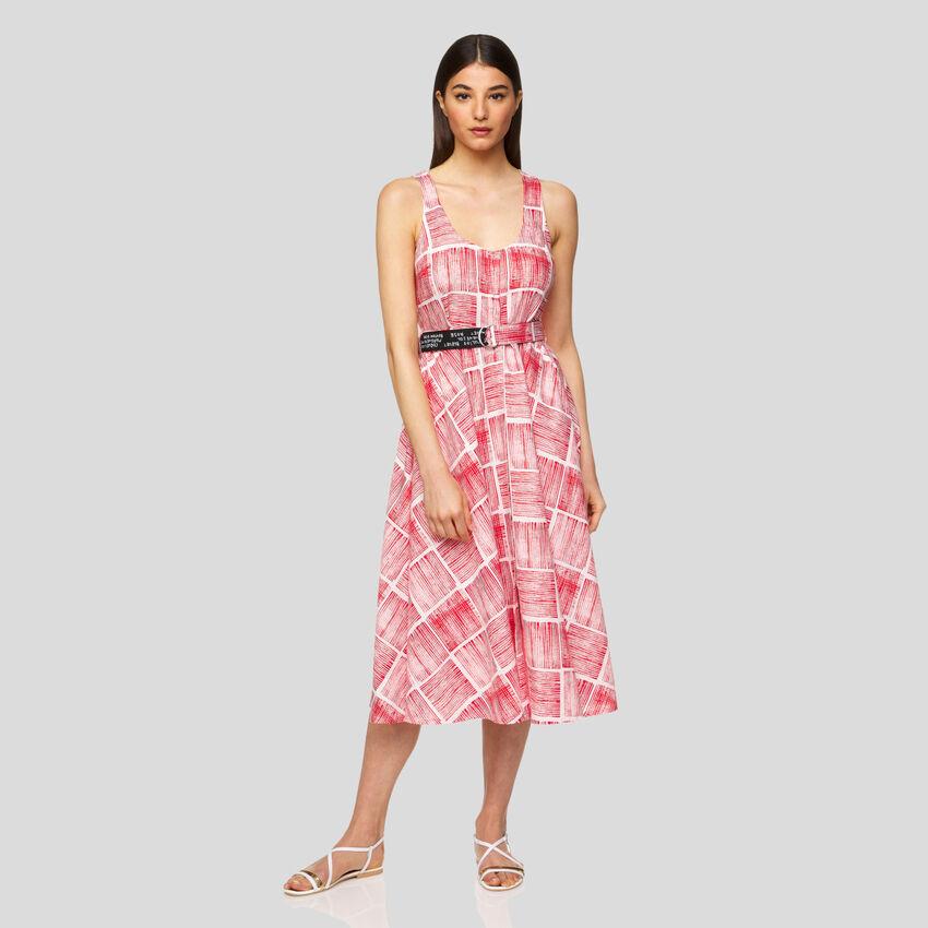 Φόρεμα all over αμάνικο