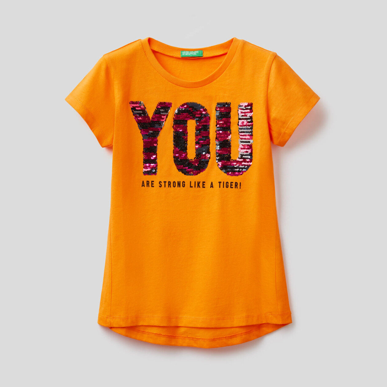 T-shirt από βαμβακερό με παγιέτες