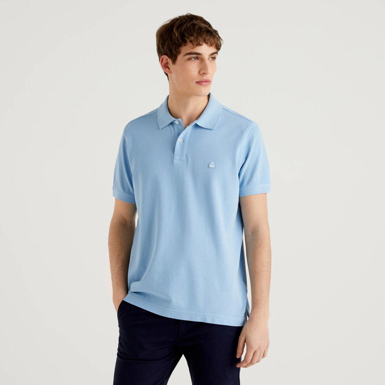 Polo regular fit γαλάζιο