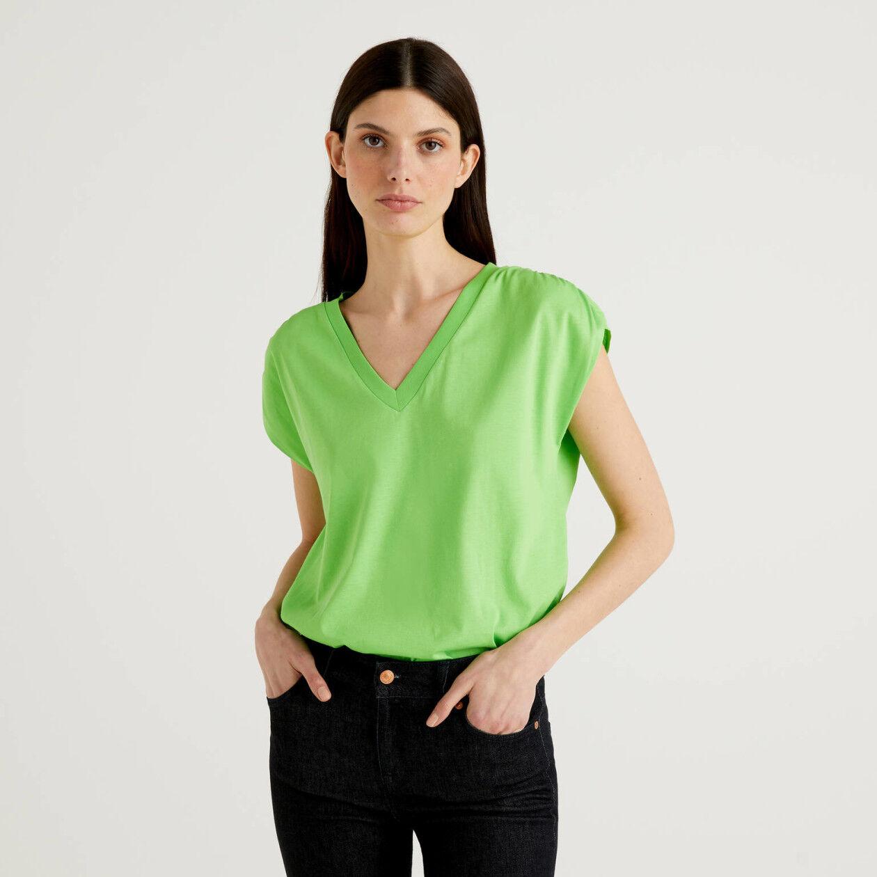 T-shirt κοντομάνικο από 100% βαμβακερό