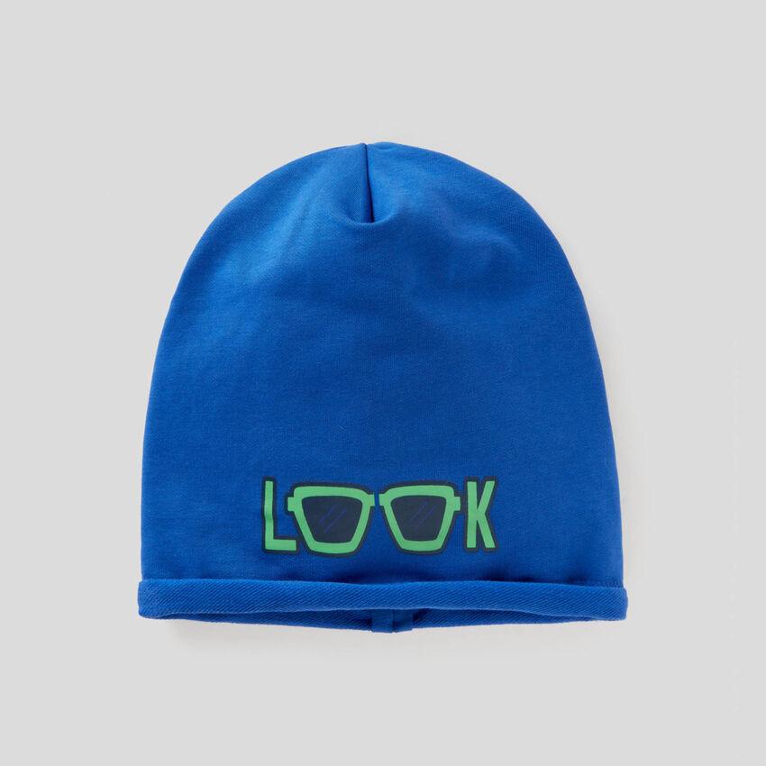 Καπέλο δύο όψεων από βαμβακερό stretch