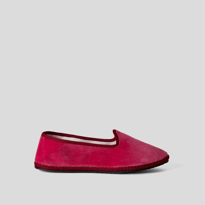 Παπούτσια friulane κυκλάμινο από βελούδο