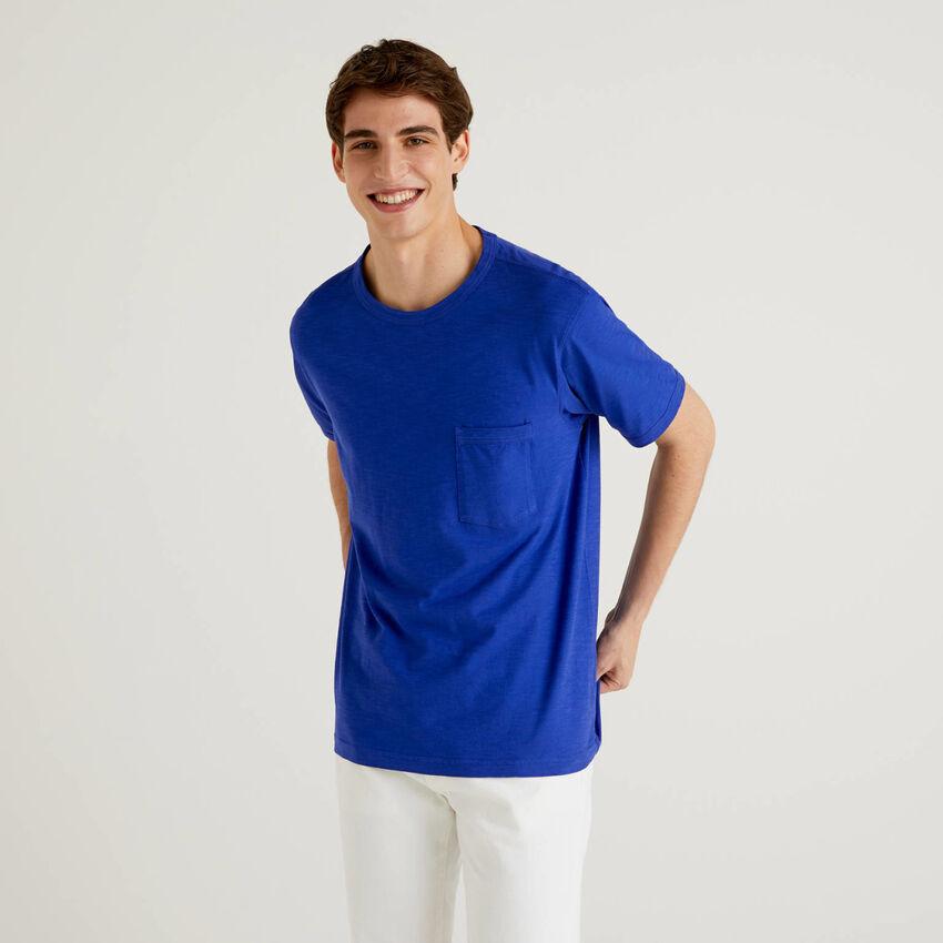 T-shirt από βαμβακερό με τσεπάκι