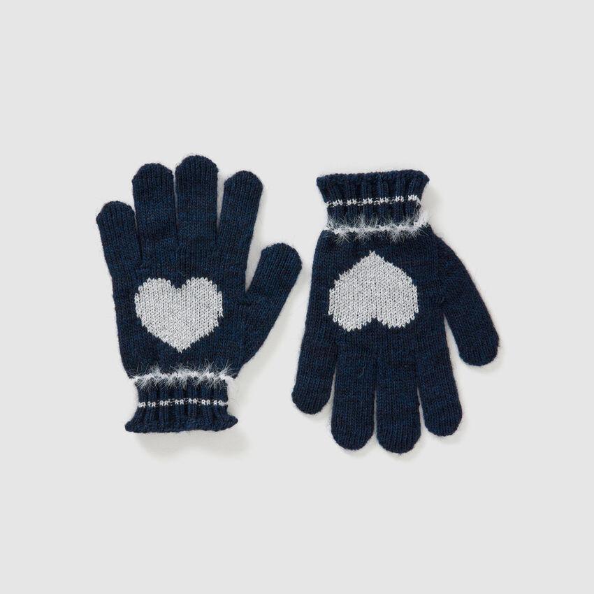 Γάντια από μάλλινο και βισκόζη