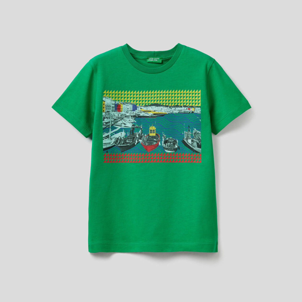 T-shirt με τύπωμα τοπίο