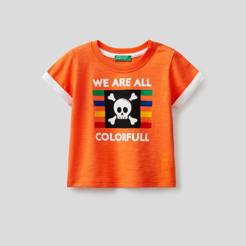 T-shirt από βαμβακερό με τύπωμα