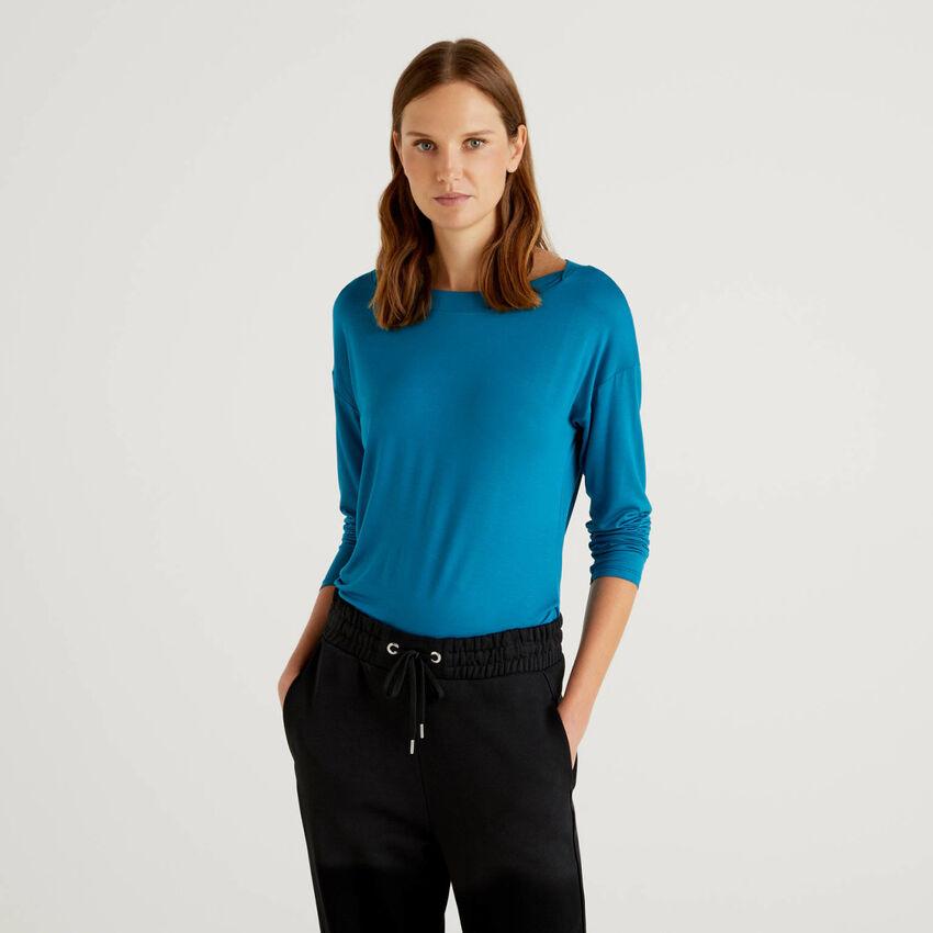 Μπλούζα από βιώσιμη βισκόζη stretch
