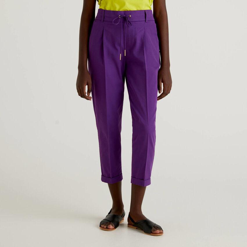 Παντελόνι από βαμβακερό με κορδόνι