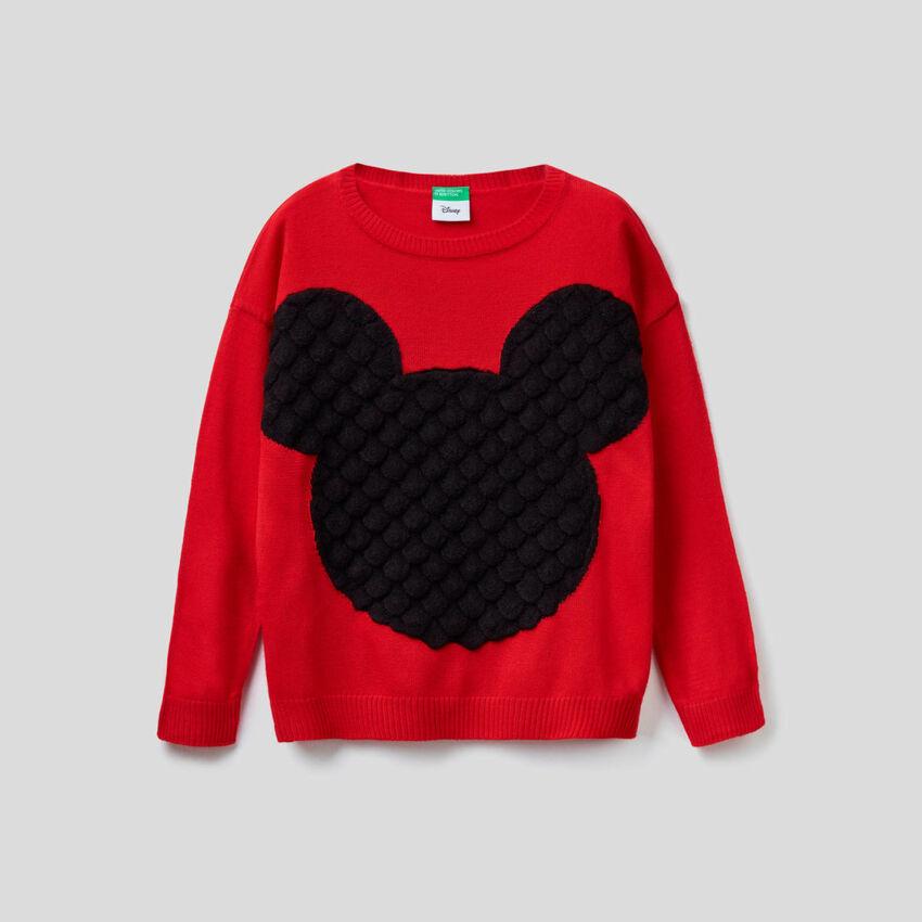 Μπλούζα με ανάγλυφο διακοσμητικό Mickey Mouse