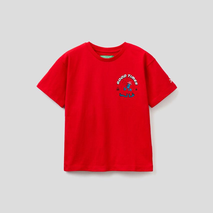 T-shirt unisex κόκκινο με τυπώματα by Ghali