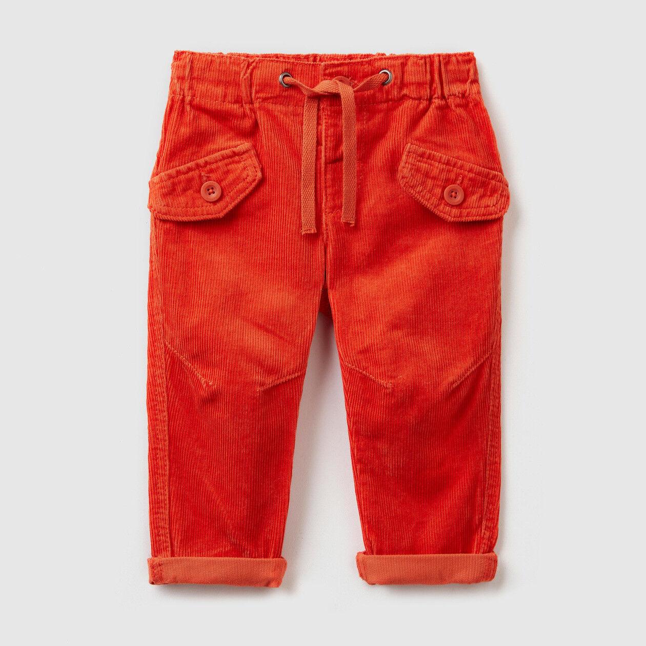 Παντελόνι από βελούδο με κορδόνι