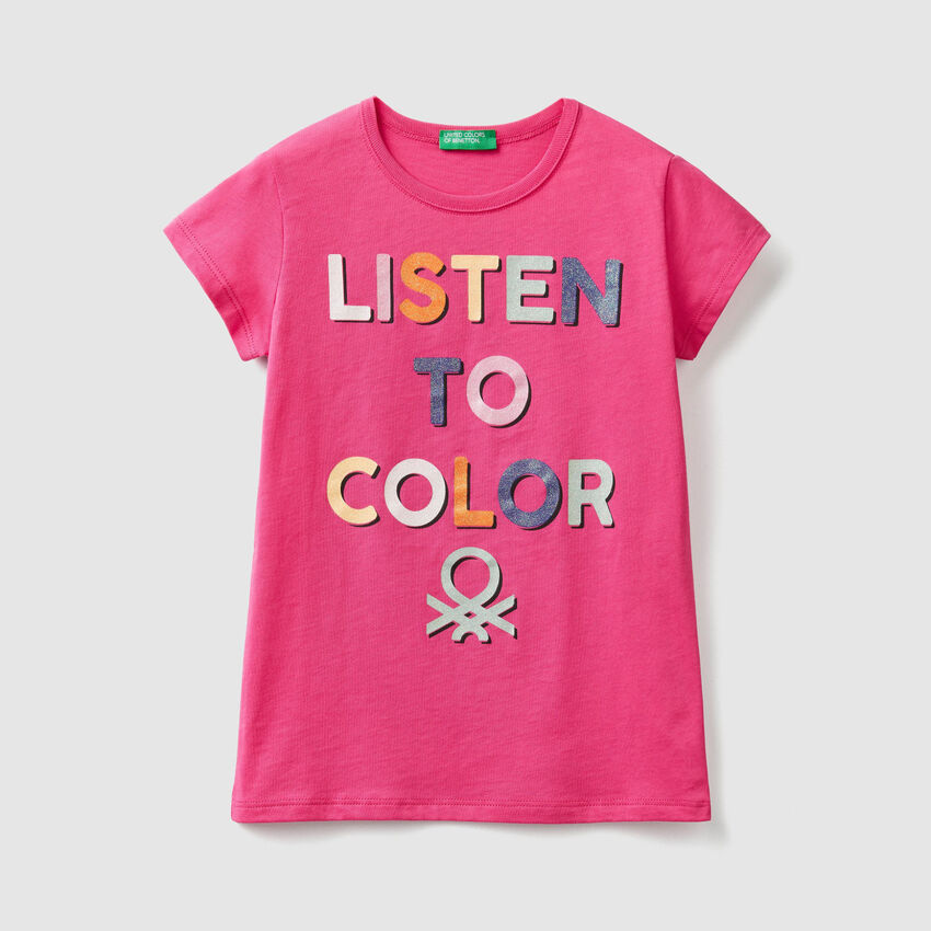 T-shirt με τύπωμα λογότυπο glitter