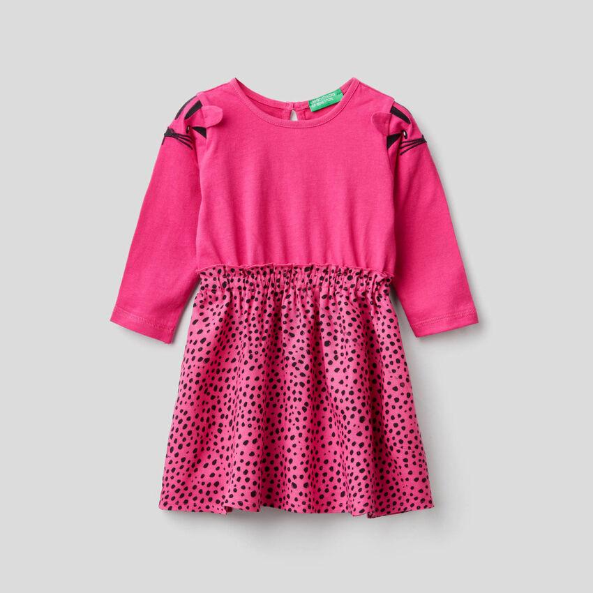 Φόρεμα με φούστα με σχέδια