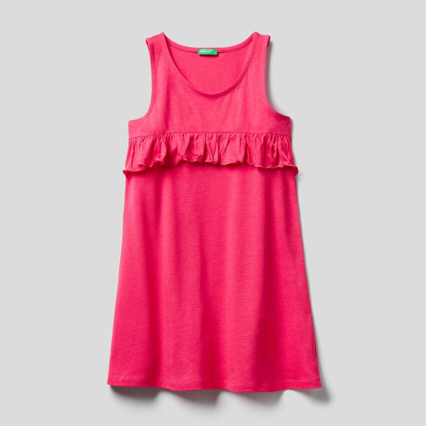 Φόρεμα καφτάνι με βολάν