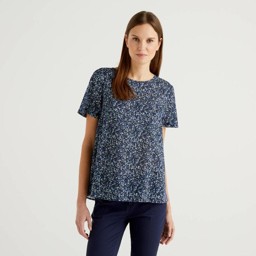 Μπλούζα με σχέδια από αγνό βαμβακερό