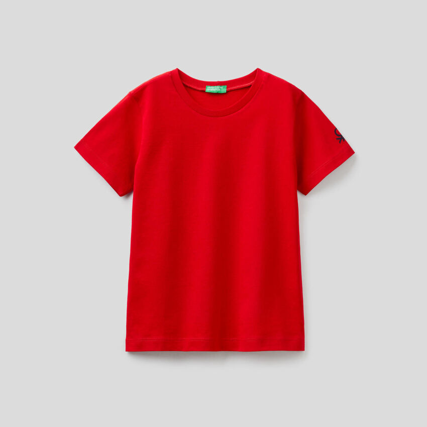 T-shirt από οργανικό βαμβακερό με τύπωμα λογότυπο