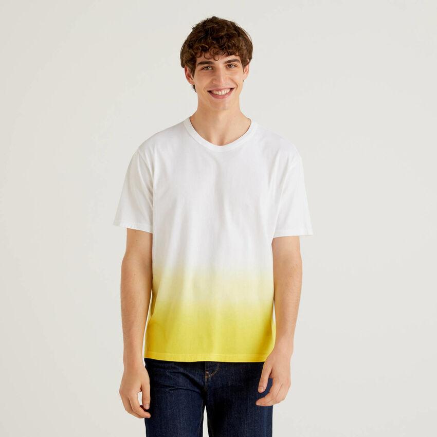 T-shirt 100% βαμβακερό με εφέ degradé