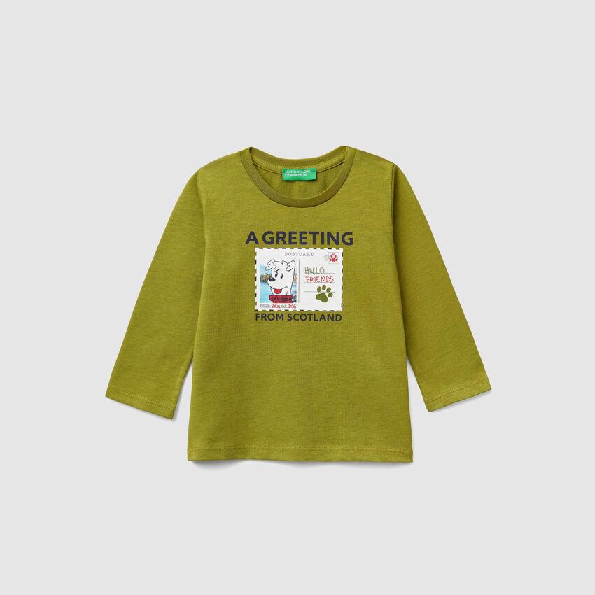 T-shirt με τύπωμα καρτ ποστάλ
