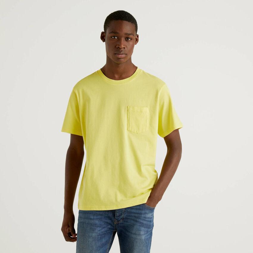 T-shirt 100% βαμβακερό με τσεπάκι