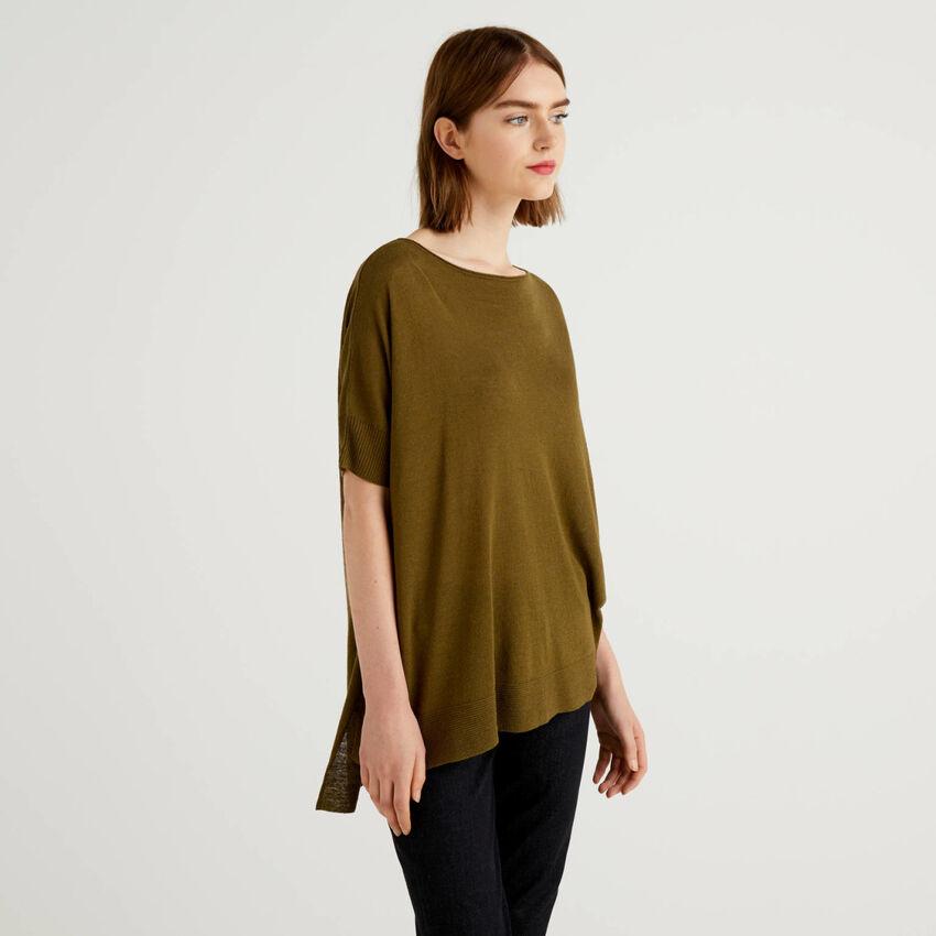 Μπλούζα oversize κοντομάνικη