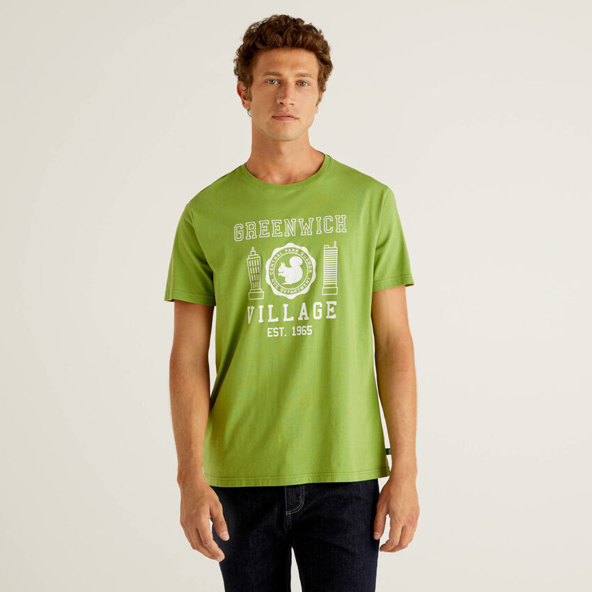 T-shirt με τύπωμα από 100% οργανικό βαμβακερό