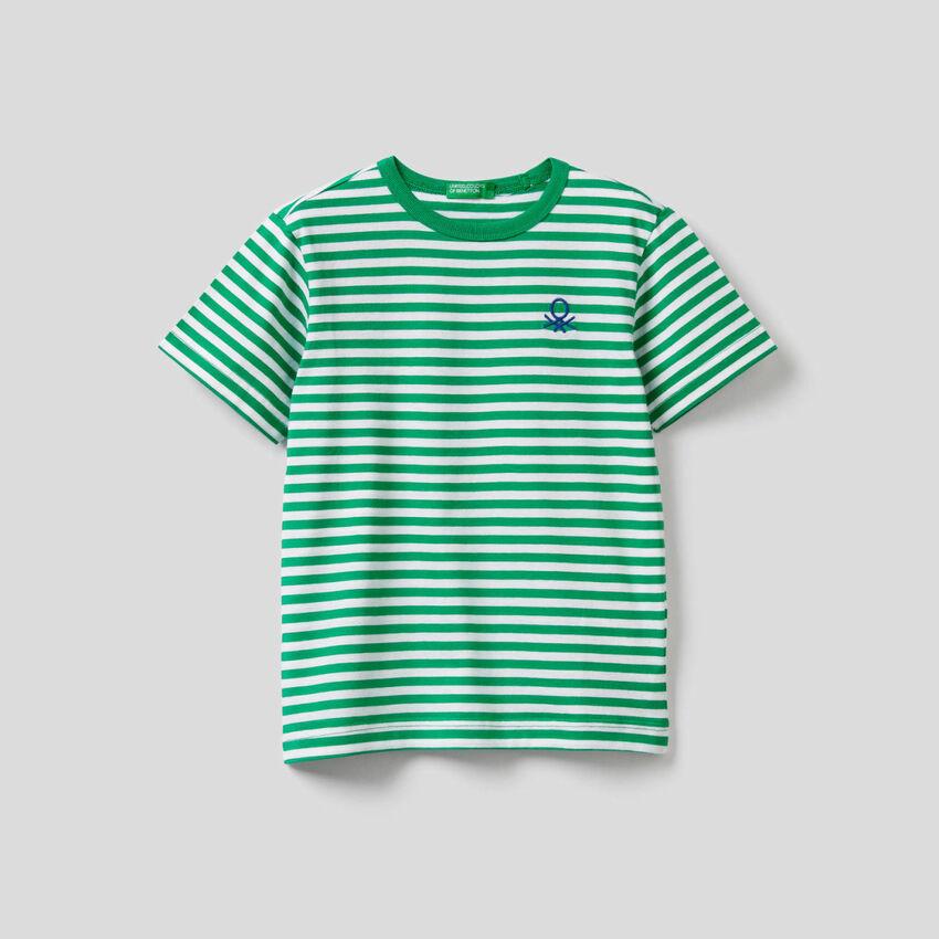 T-shirt ριγέ από 100% βαμβακερό