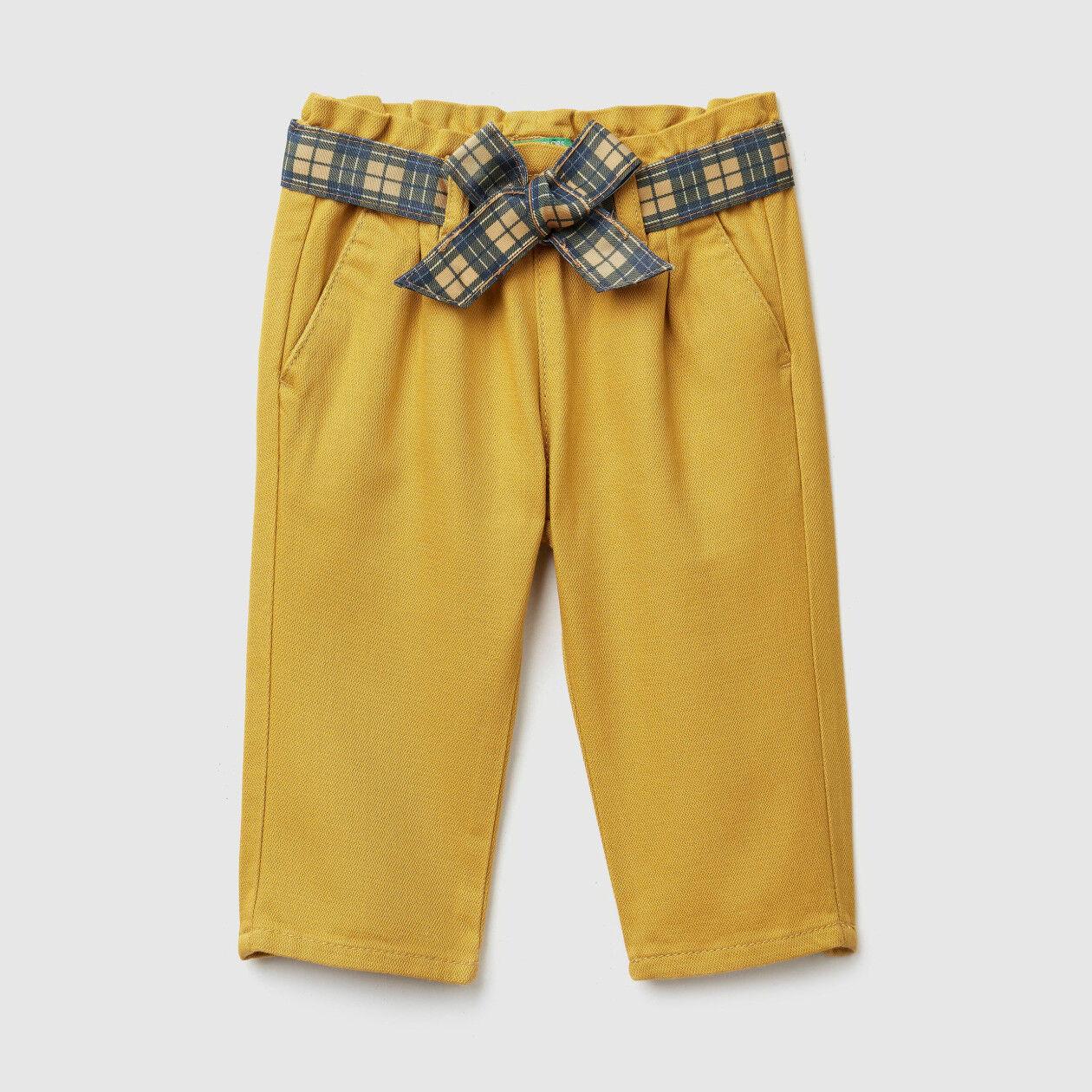 Παντελόνι με φαρδιά ζώνη