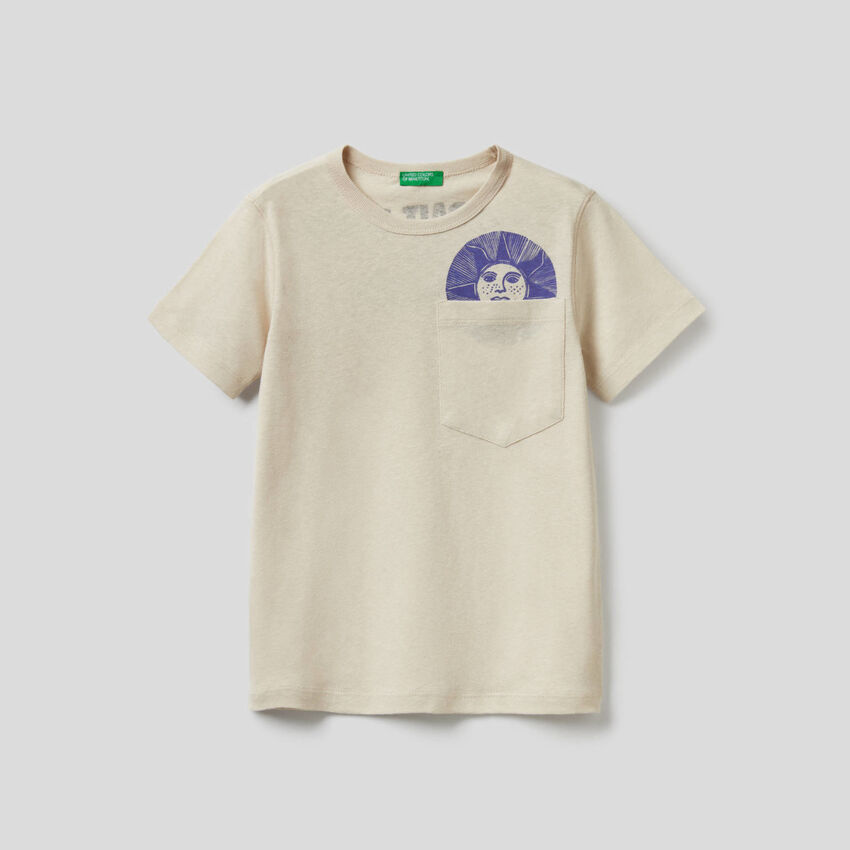 T-shirt με τυπωμένο σλόγκαν
