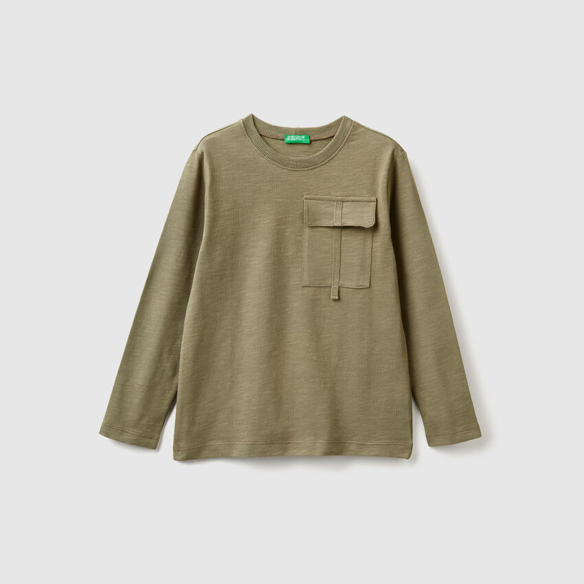 T-shirt με τσεπάκι