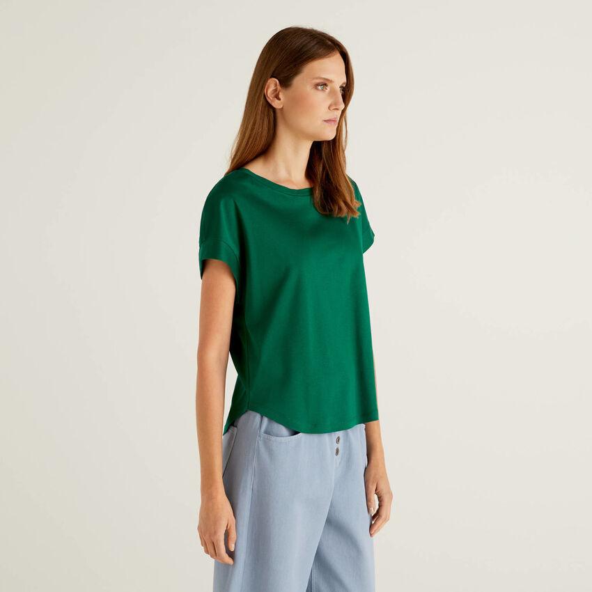 T-shirt 100% βαμβακερό με μανίκια κιμονό