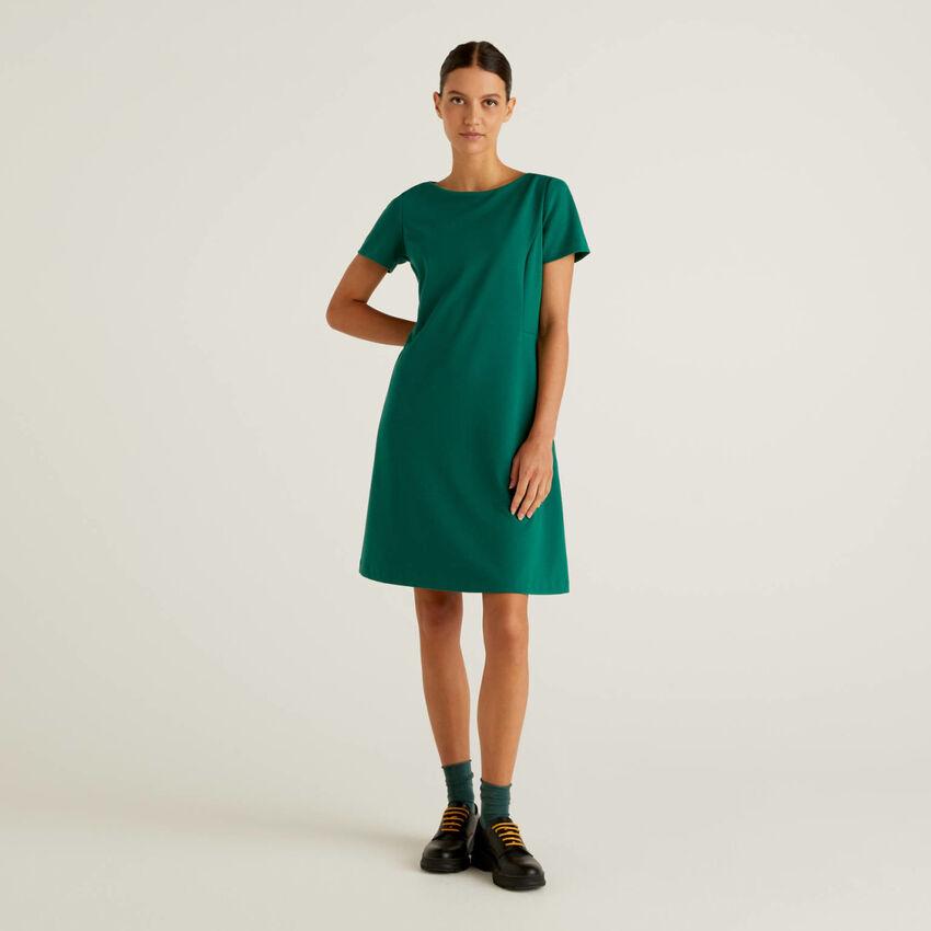 Φόρεμα από ανάμεικτο βαμβακερό stretch