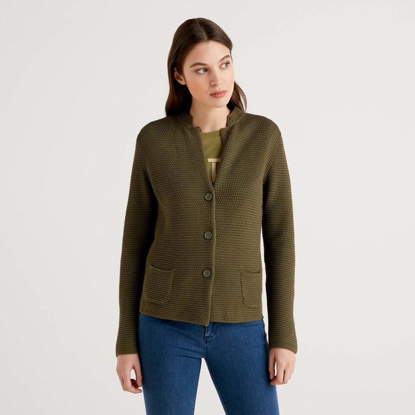 100% cotton knit jacket