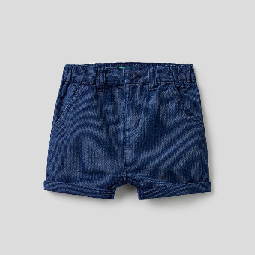 Παντελόνι κοντό τζιν ριγέ