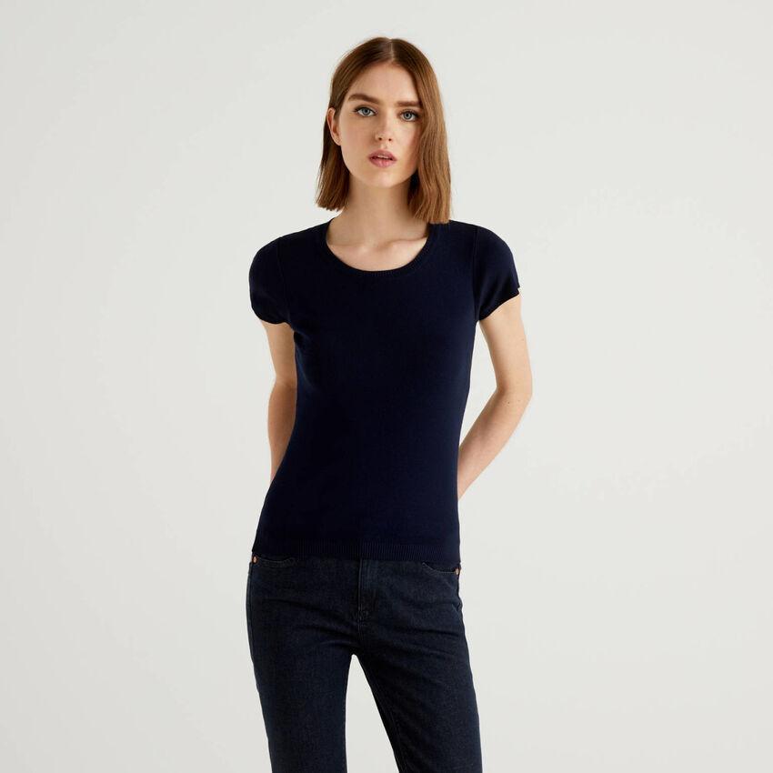Μπλούζα κοντομάνικη από 100% βαμβακερό