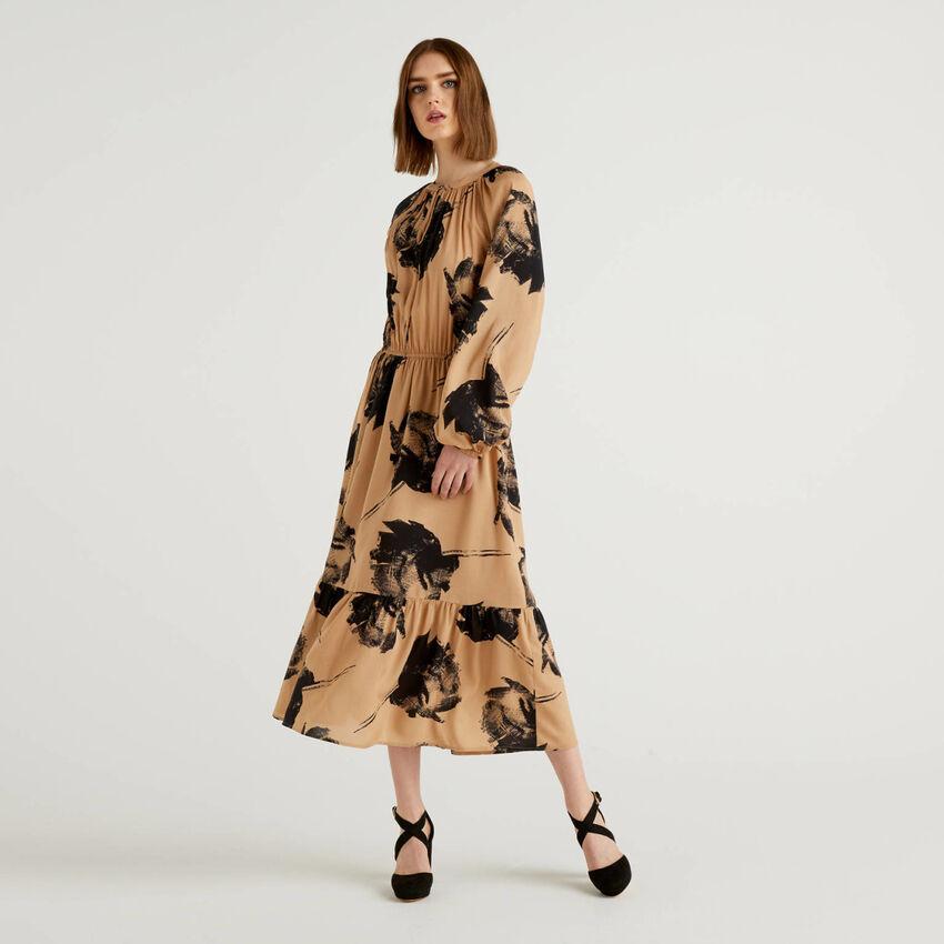 Φόρεμα μακρύ με τύπωμα