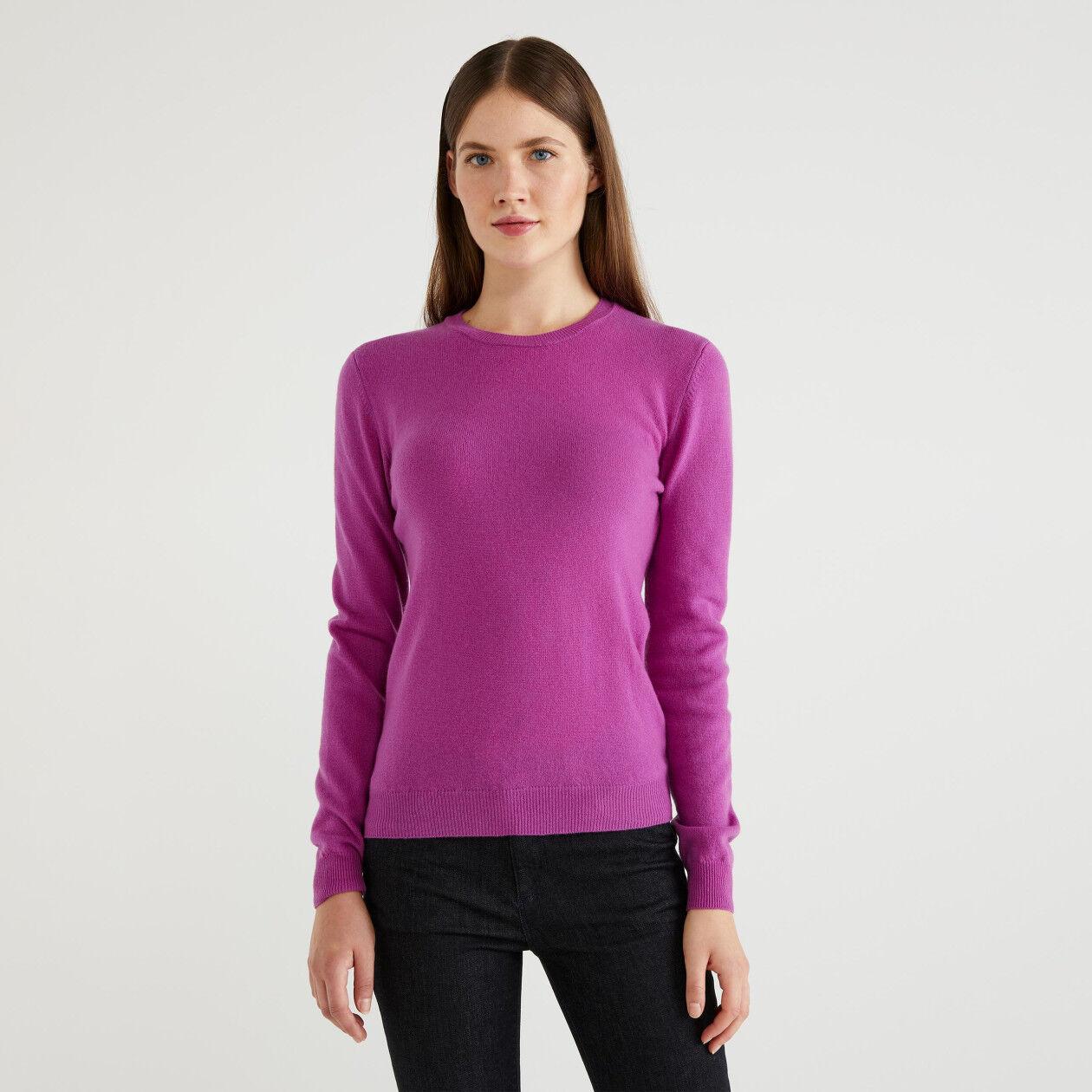 Μπλούζα με λαιμόκοψη 100% παρθένο μαλλί