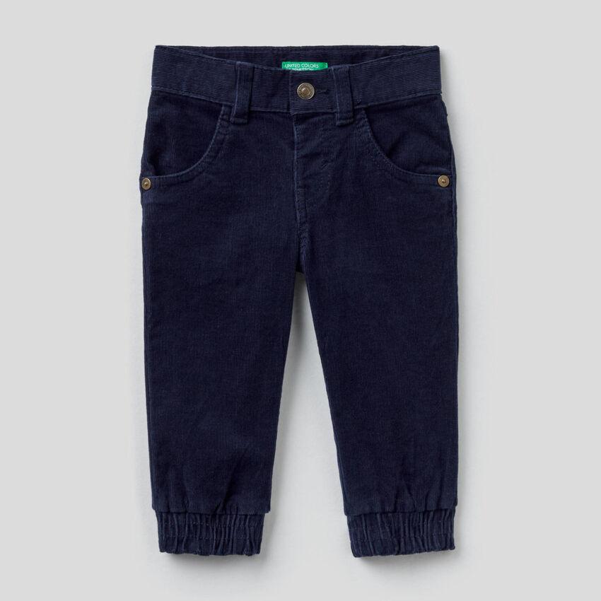 Παντελόνι από βελούδο από βαμβακερό stretch
