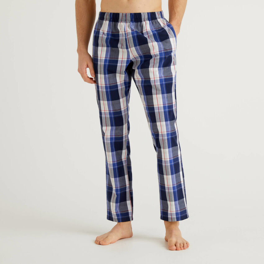 Παντελόνι καρό από βαμβακερό