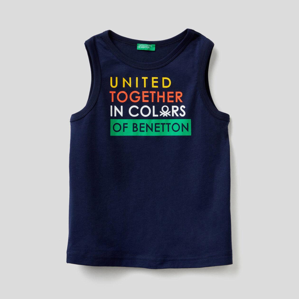 T-shirt αμάνικο με τύπωμα λογότυπο