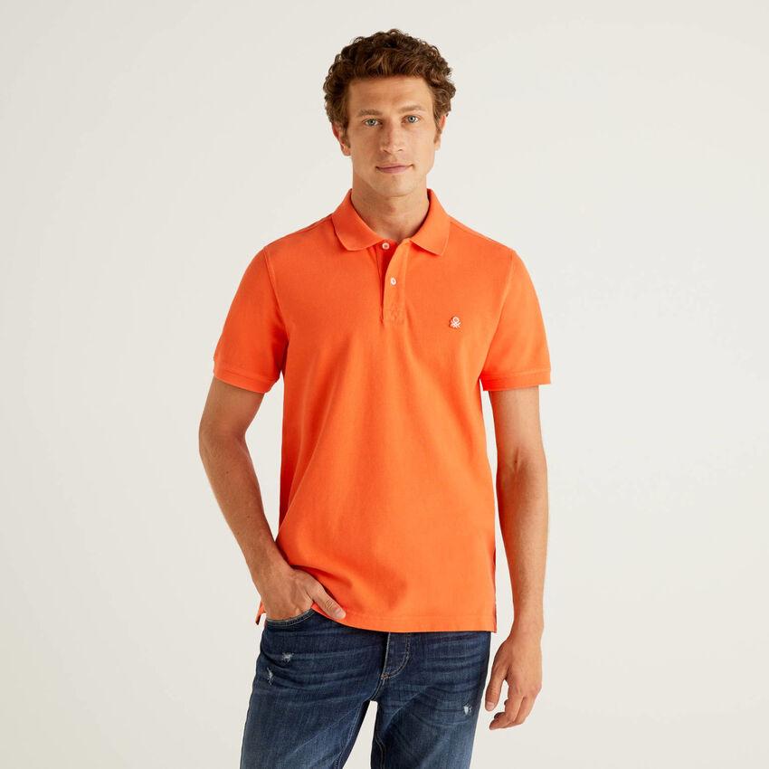 Πόλο πορτοκαλί regular fit