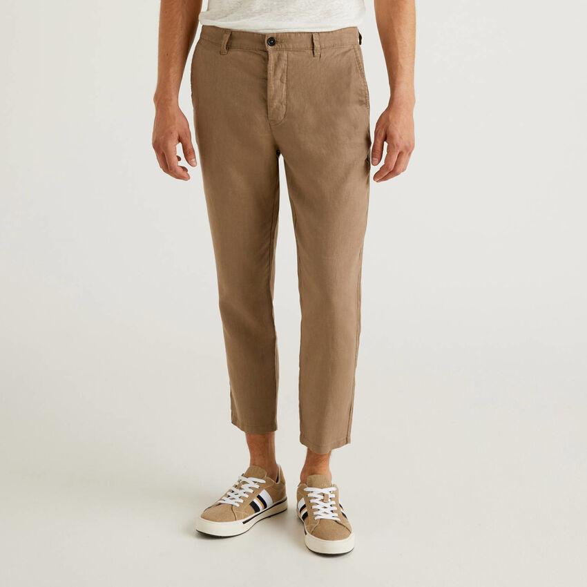 Παντελόνι chino από αγνό λινό
