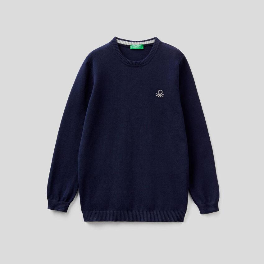 Μπλούζα από αγνό βαμβακερό με λογότυπο