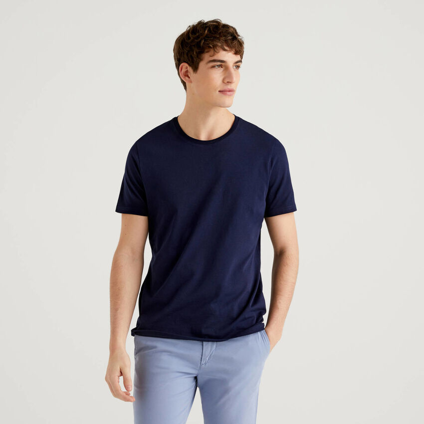 T-shirt μπλε σκούρο