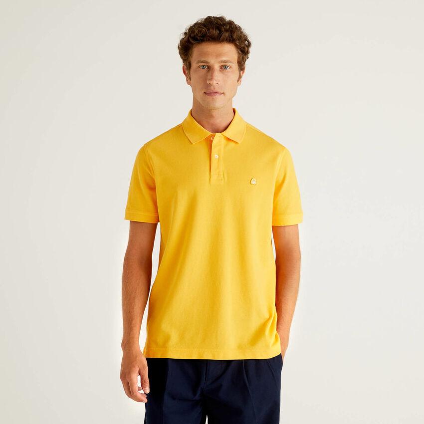Πόλο κίτρινο regular fit