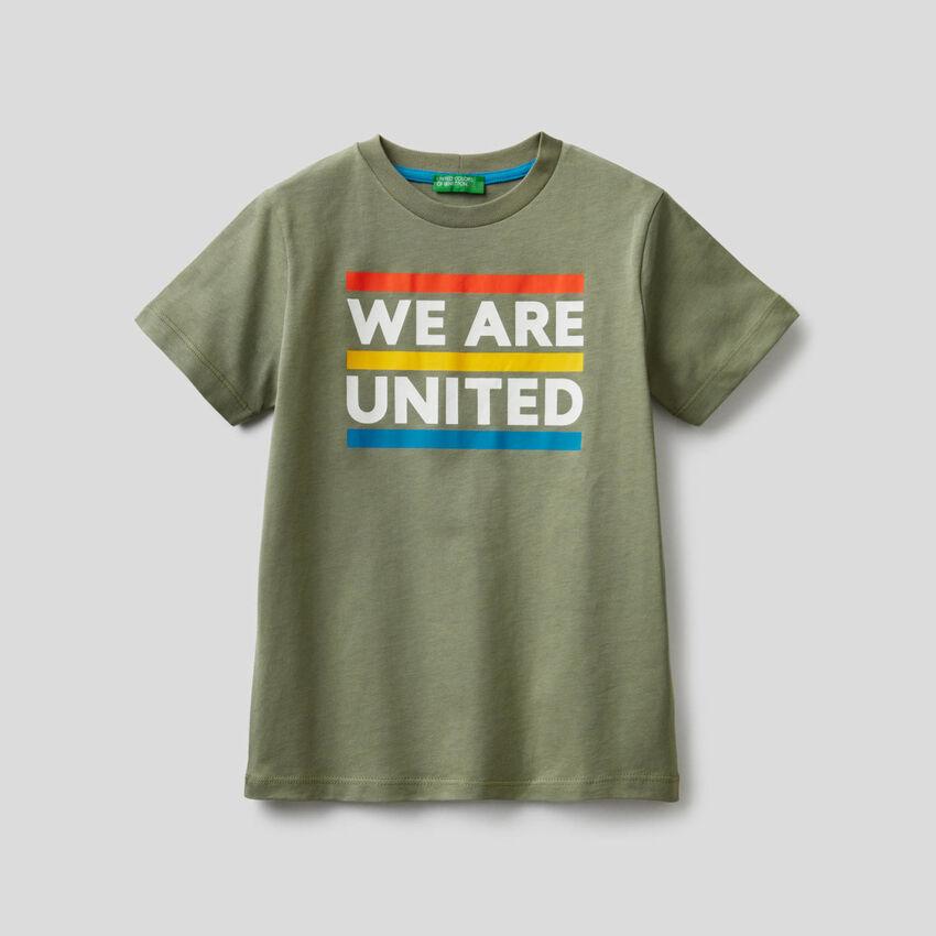 T-shirt από βαμβακερό με σλόγκαν