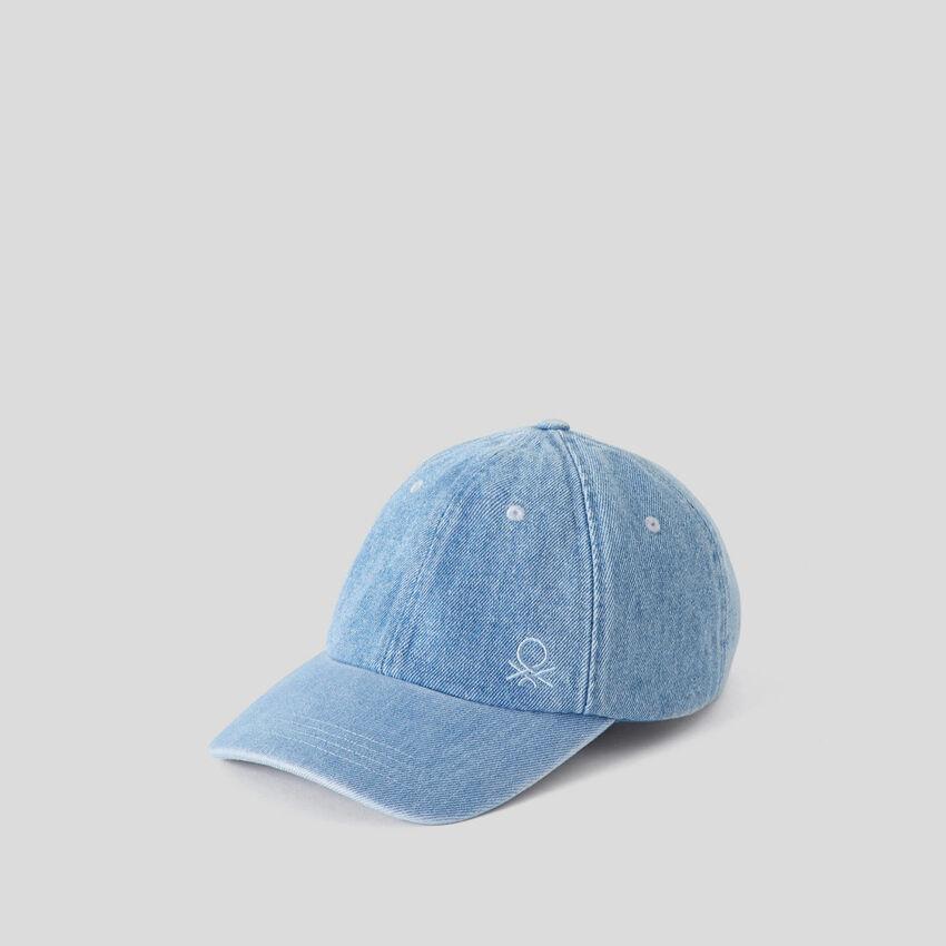 Καπέλο με γείσο τζιν