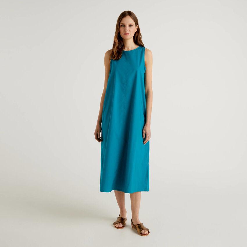 Φόρεμα μακρύ αμάνικο από 100% βαμβακερό