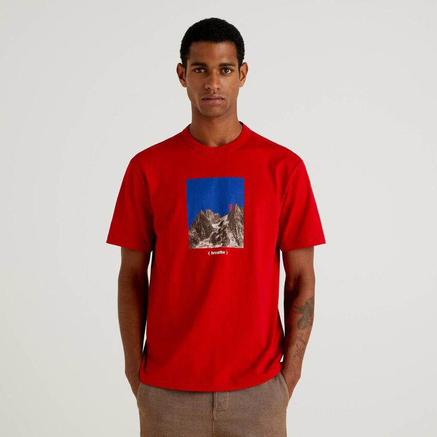 T-shirt 100% οργανικό βαμβακερό με τύπωμα