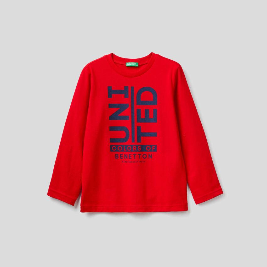 T-shirt μακρυμάνικο από οργανικό βαμβακερό